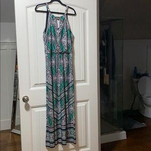 White House black market maxi dress size M